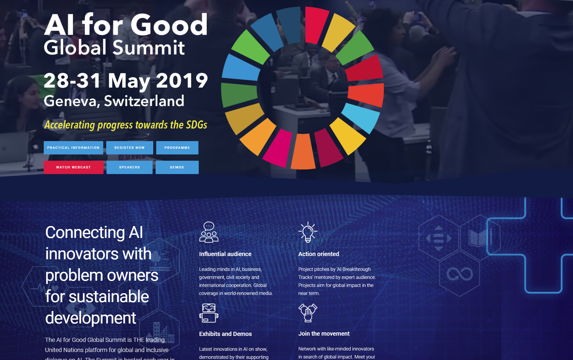 HumaneAI co-chairing a session at AI for Good Summit